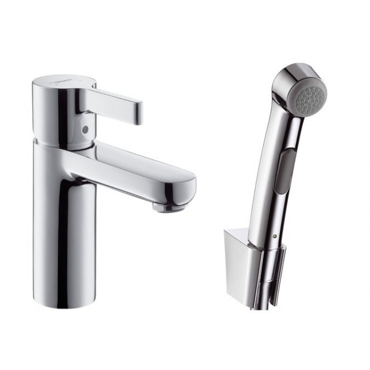 Metris S Смеситель на умывальник с гигиеническим душем