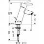 Talis S2 Смеситель для раковины 80с д/к