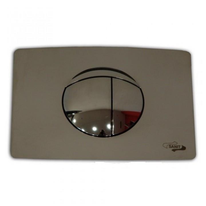 Кнопка для WC хром матовый 701 Sanit