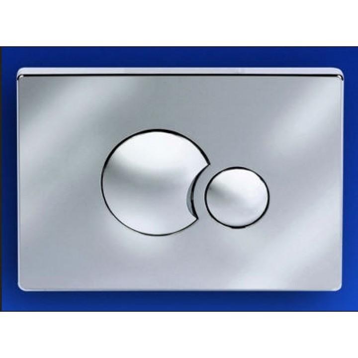 инсталляция для консольного унитаза кнопка комбинированная хром/матовый хром 706 Sanit