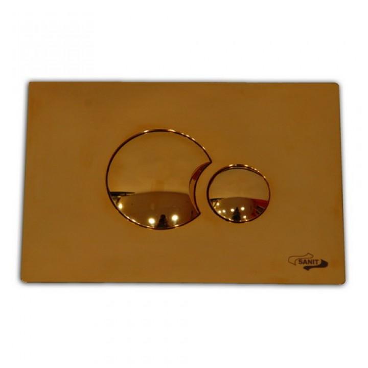 инсталляция для консольного унитаза кнопка золотая 706 Sanit