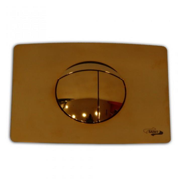 инсталляция для консольного унитаза кнопка золотая 701 Sanit