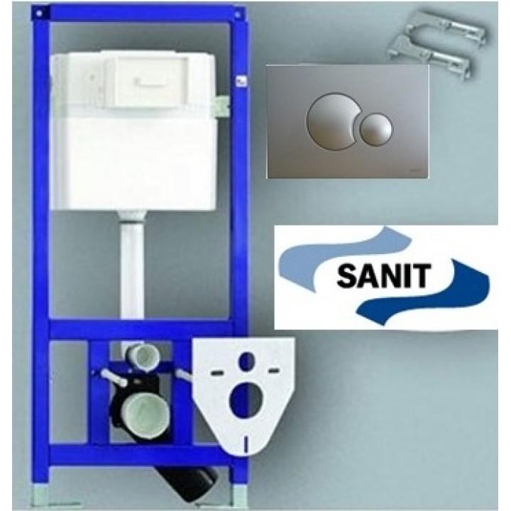 Инсталляция для консольного унитаза + кнопка + прокладка + крепление 4 в 1